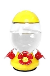 25oz. Egg Shaped Glass Hummingbird Feeder - Yellow