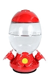 25oz. Egg Shaped Glass Hummingbird Feeder - Red